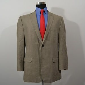 Calvin Klein 43R Sport Coat Blazer Suit Jacket Gra